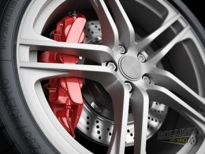 Photo of brake caliper